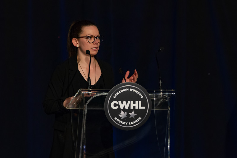 TORONTO, ON - March 22, 2019: The Mattamy Centre of Ryerson University hosted the 2019 edition of the CWHL Awards Ceremony.