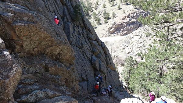 Jill Climbing - Boulder Canyon