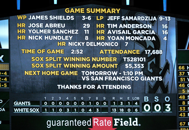 San Francisco vs Chicago White Sox