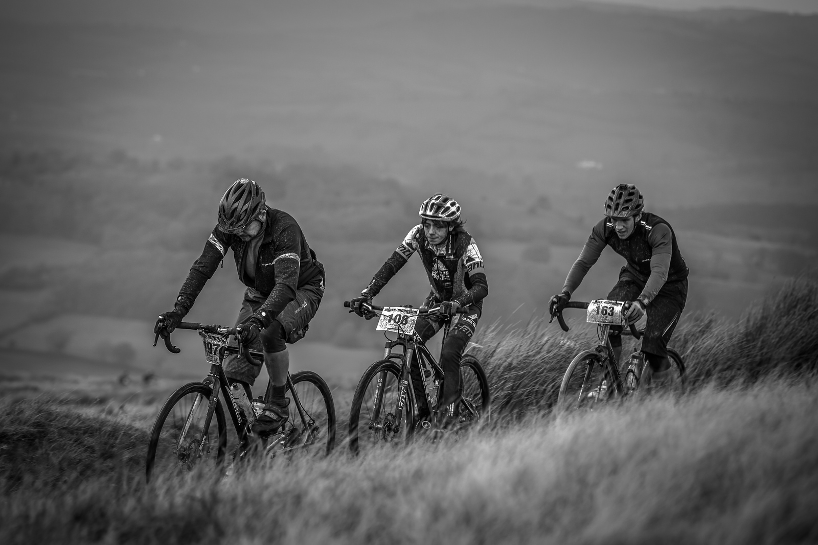 Battling the Welsh weather during Cross Mountain.