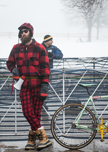 US National Cyclocross Championships, race support fan / rider / local