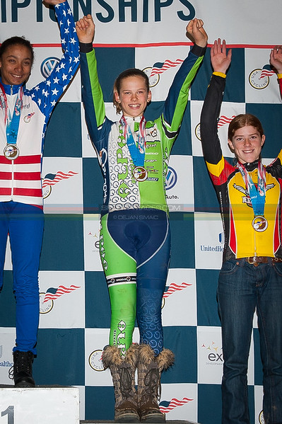 US National Cyclocross Championships, Podium, Jr Women 13-14