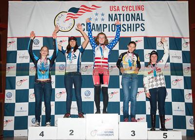 US National Cyclocross Championships, Podium, Jr Women 17-18