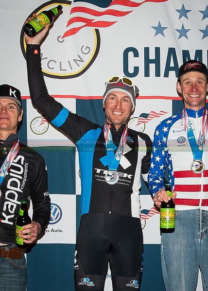 US National Cyclocross Championships, Master Men 40-44, Podium