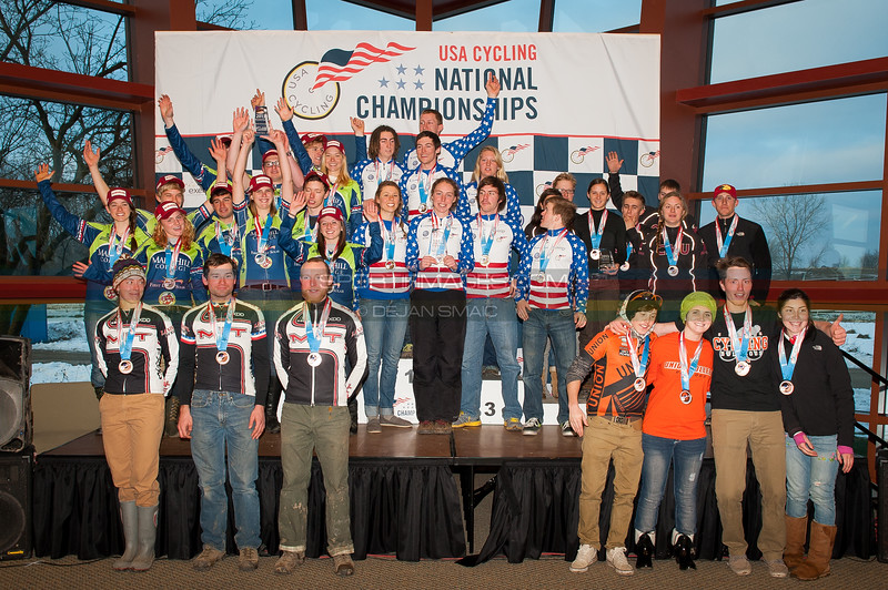 US National Cyclocross Championships, Collegiate D2 Team Podium