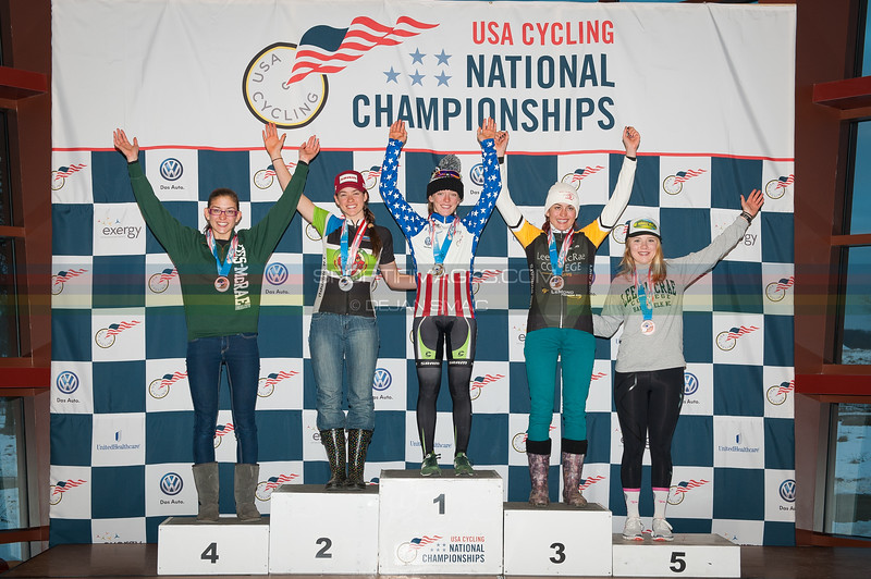 US National Cyclocross Championships, Collegiate Women D1 Podium