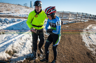 US National Cyclocross Championships   Non-Championship Women US National Cyclocross Championships, Medical patrol going into action to injured rider