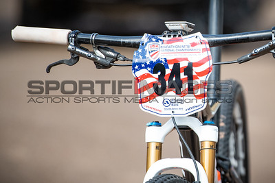 Marathon MTB National Championships. A previous national champion number plate.