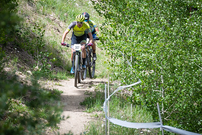 Mountain Bike National Championships - Non-Championship race lead riders approaching the climb.