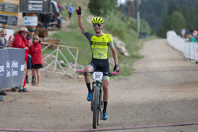 Mountain Bike National Championships Non-Championship Race.  The firast rider of the week to cross the finish line.