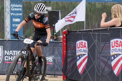 Mountain Bike National Championships Non-Championship Race.  A rider makes his way past the finish for his final lap.