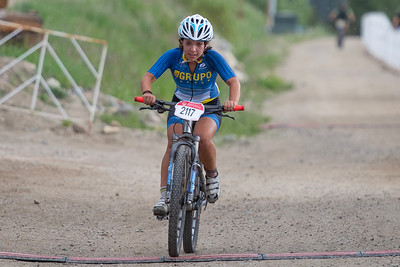 Mountain Bike National Championships Non-Championship Race.  The first female rider of the week to cross the finish line.
