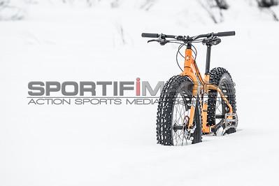 Deep snow, fat tires.