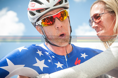 Todd Wells (Specialized) and his wife showing a little expression that he had a hard day at the office.  ©Dejan Smaic | sportifimages.com 2014