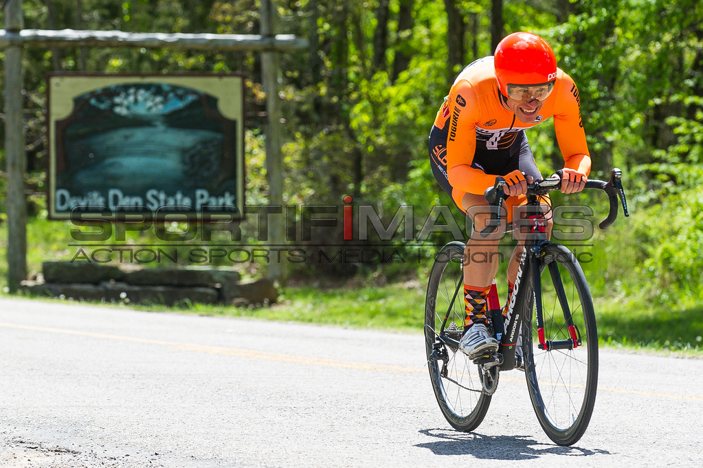 Joe Martin Stage Race - Stage 1. UCI Pro 1 Men. Racers left Devils Den State Park at Demon like speeds.