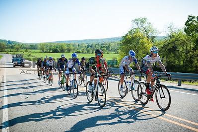 Joe Martin Stage Race. UCI Men's Pro 1. Stage 3. The breakaway rolls past Sweet Water Creak and uo to the feedzone.