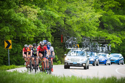 Joe Martin Stage Race Stage 2. A Jamis rider takes a pull in the breakaway.