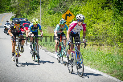 Joe Martin Stage Race  Stage 3.  UCI Pro Women's Race. Four riders off the front during the opening miles of the race.