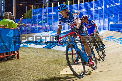Katie Compton leading the top womens riders on the Raleigh ramp.