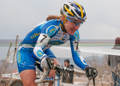 Amy making her way through the field.  American World Cup cyclocross racer, Amy Dombroski, was killed during a training accident in Belgium.
