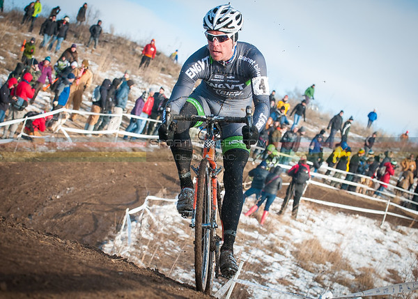 US National Cyclocross Championships | Elite Mens, Page staying close to the front during the first lap