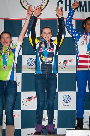 US National Cyclocross Championships, Podium, Jr Women 13-14