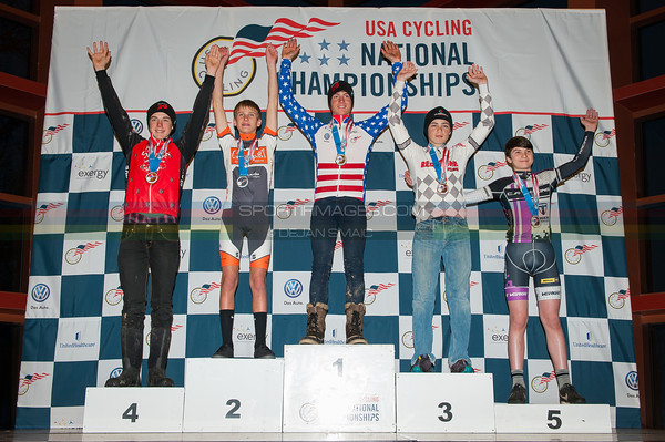 US National Cyclocross Championships, Podiums, Jr Men 13-14