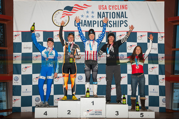 US National Cyclocross Championships, Elite Women Podium