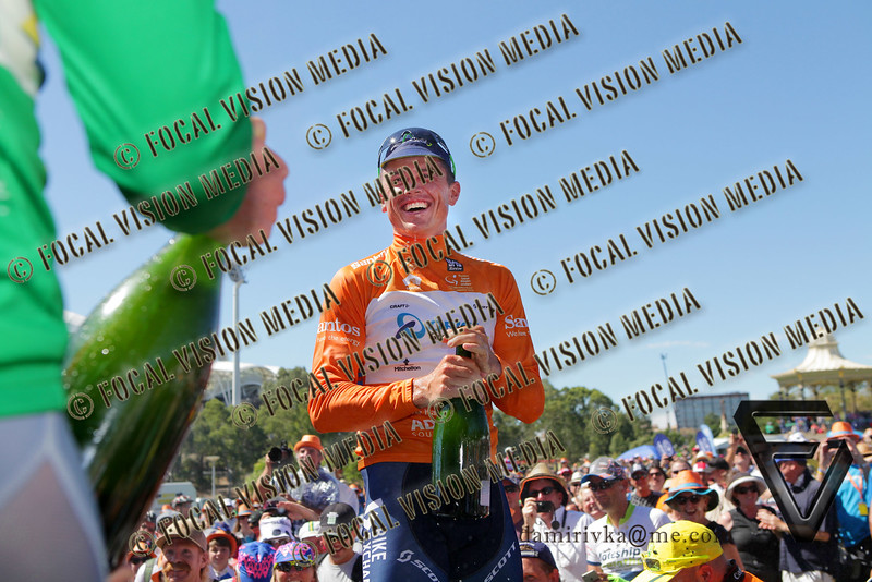 2016 Santos Tour Down Under . MAC Stage 6 Adelaide. Australia.Sunday 14/01/2016.<br /> Simon GERRANS (Aus) riding for Orica Green Edge Team (Aus) is the 2016 Overall Winner.<br /> Record 4th time in a row.<br /> © ATP / Damir IVKA