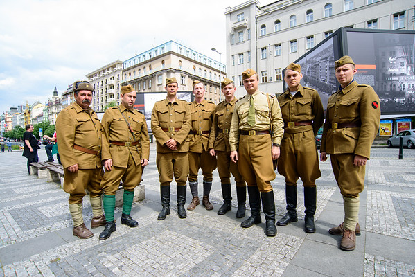 2015 05 09 Prague Czech Army Military Reenactors
