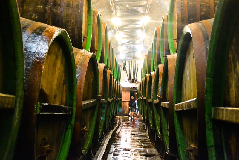 Brewing Barrels in Underground Lagering Caves<br /> Pilsner Urquell Brewery<br /> Pilsen