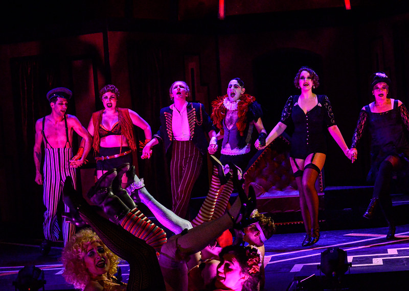 """KRISTOPHER RADDER — BRATTLEBORO REFORMER<br /> The cast of """"Cabaret"""" has a dress rehearsal at the Bellows Falls Opera House on Thursday, March 5, 2020."""