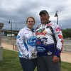 Richard Payerchin — The Morning Journal <br> Angler William Gaines of Plymouth, Ind., stands for a photo with his new fiancee, Jodie Leasure, while taking a break from the Cabela's National Team Championship walleye tournament in Lorain on June 9, 2017. The day before, Gaines proposed to Leasure while on the weigh-in stage of the contest.