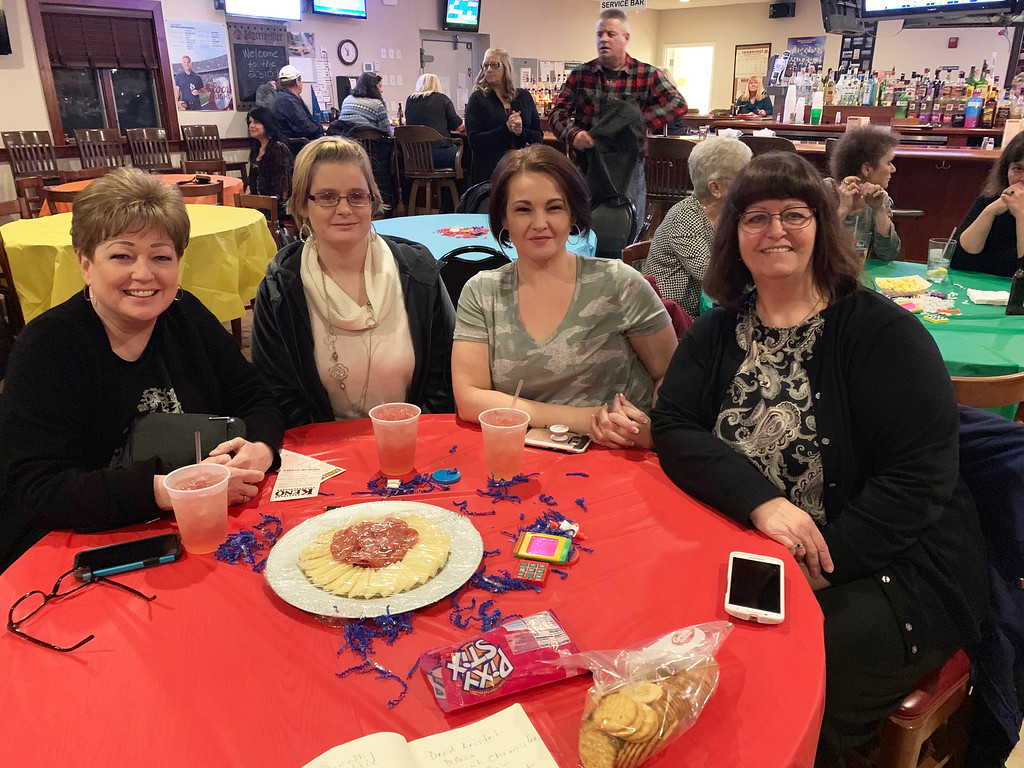 . From left, Debbie Wilson, Lilly Chicks and Tara Hanson, all of Maine, and Sheila Sullivan of Billerica