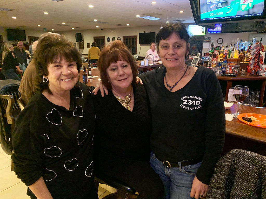 . From left, Jeannette Daskey of Hampton, N.H., Mary Gallagher Lukas of Chelmsford and Bobbi Jo McNiff of Ayer