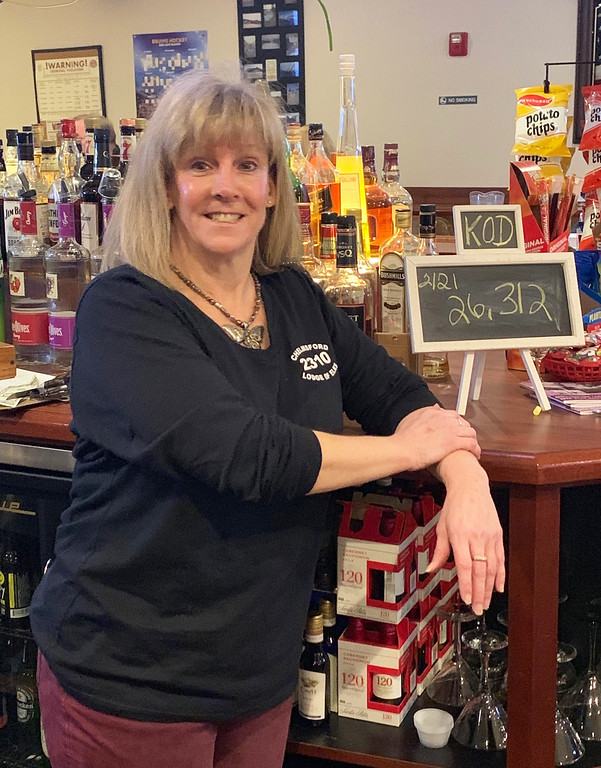 . Elks bartender Heidi Scharn of Chelmsford