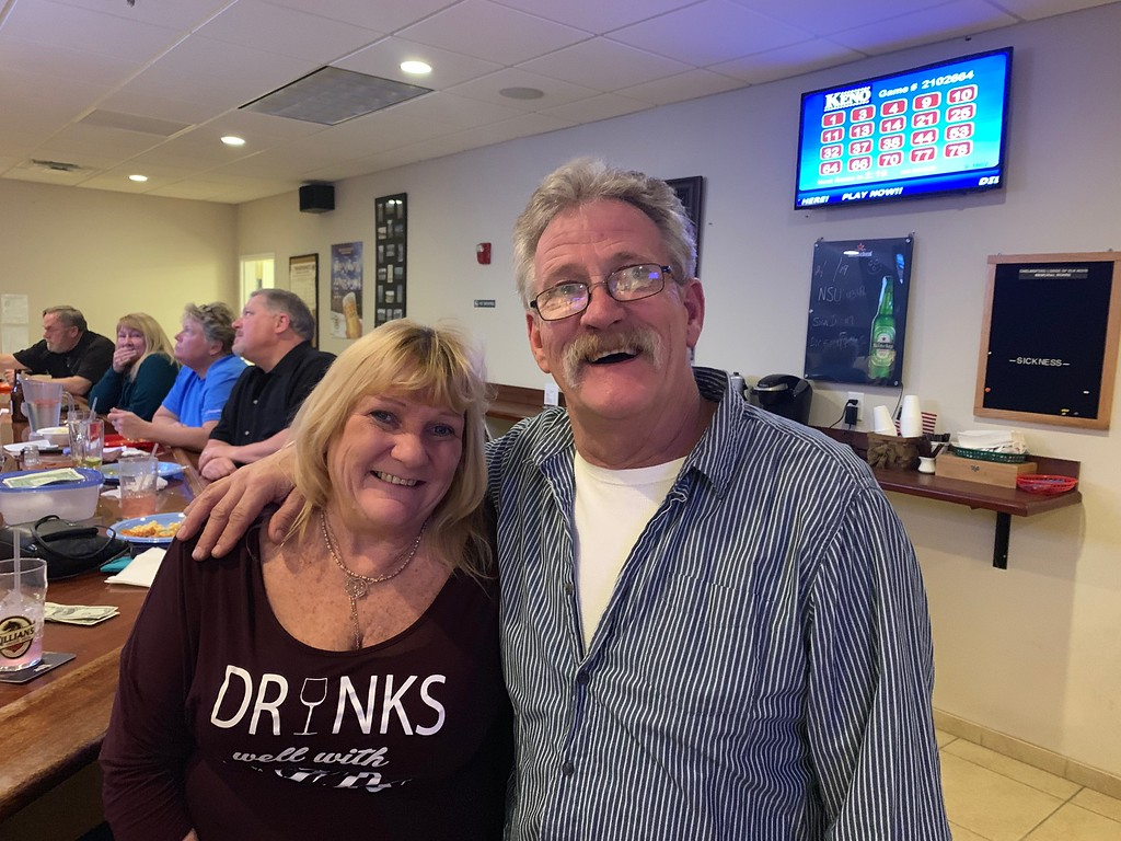 . Elks members Paula Faria and Kevin McConnell of Chelmsford