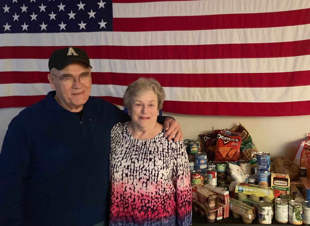 . 1st Sgt. (Ret.) Lee Bradley and Army veteran Kathie Bradley of Shirley, the newly elected Exalted Ruler of Chelmsford Elks.