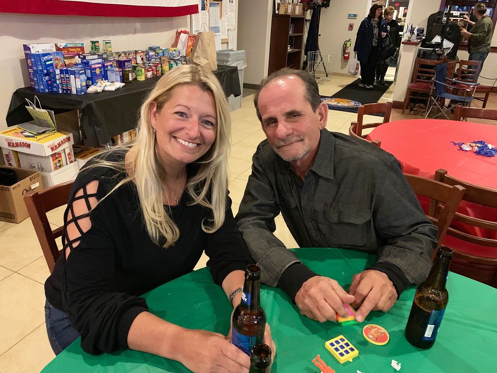 . From left, Elks Chairwoman Mindy Westberry of Westford with Tim Costos of Leominster (Dacey�s handsome cousin)