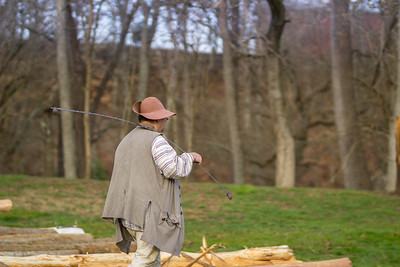 Cabin Raising at David Crockett Birthplace State Park 3/25/17 Day 2
