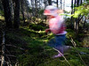 Running in a moss garden<br /> Parc de la Mauricie<br /> October 9,  2006