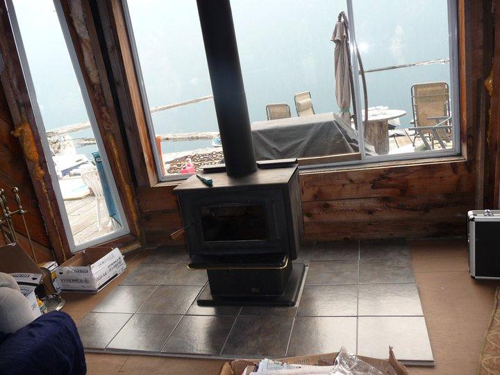 Wood stove + BBQ