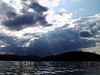 Sun clouds and lake<br /> August 15, 2005