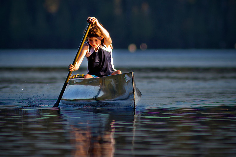 Canoe workout at sunset<br /> September 18, 2011