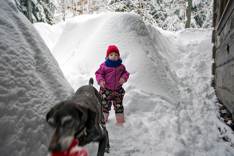 Another foot of snow yesterday<br /> Julia @ 3 years 4 months<br /> March 1, 2013
