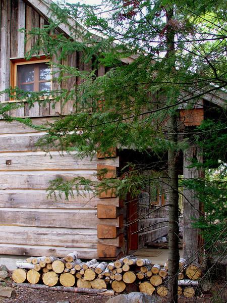 Cabin front porch entrance<br /> September 8, 2002