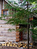Cabin front porch entrance<br /> September 8, 2002