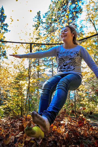 Félitia <br /> Thanksgiving on the cabin trampoline<br /> October 13 2014