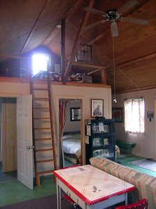 View toward the loft bedroom