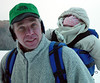 Gary and Stella (6 months old) on the lake (looks a bit chilly)<br /> December 26, 2002
